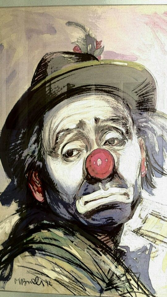 Pin by Elyse Ron on Clownin around Clown paintings