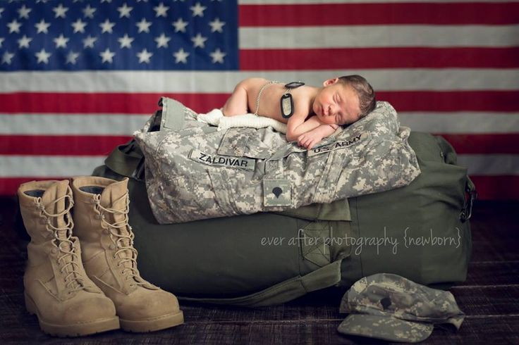 Newborn photography US Army baby