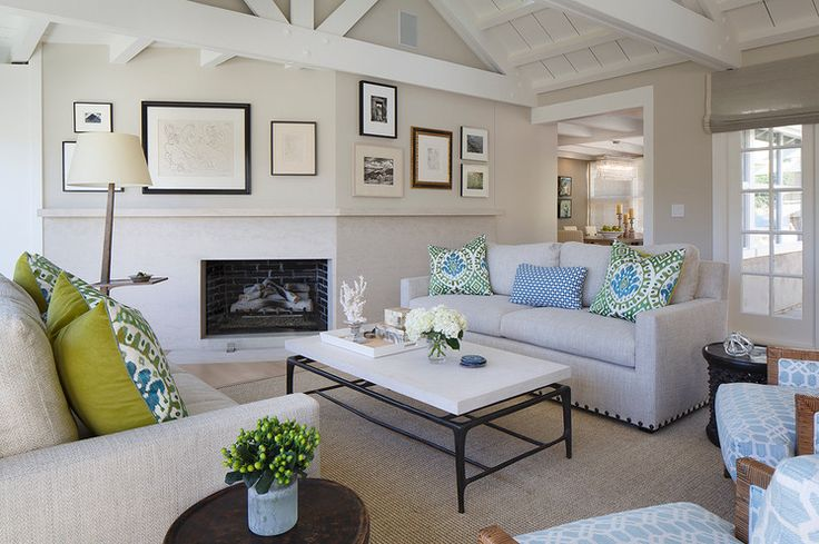 252 best images about decorating with blue green on - Images of transitional living rooms ...