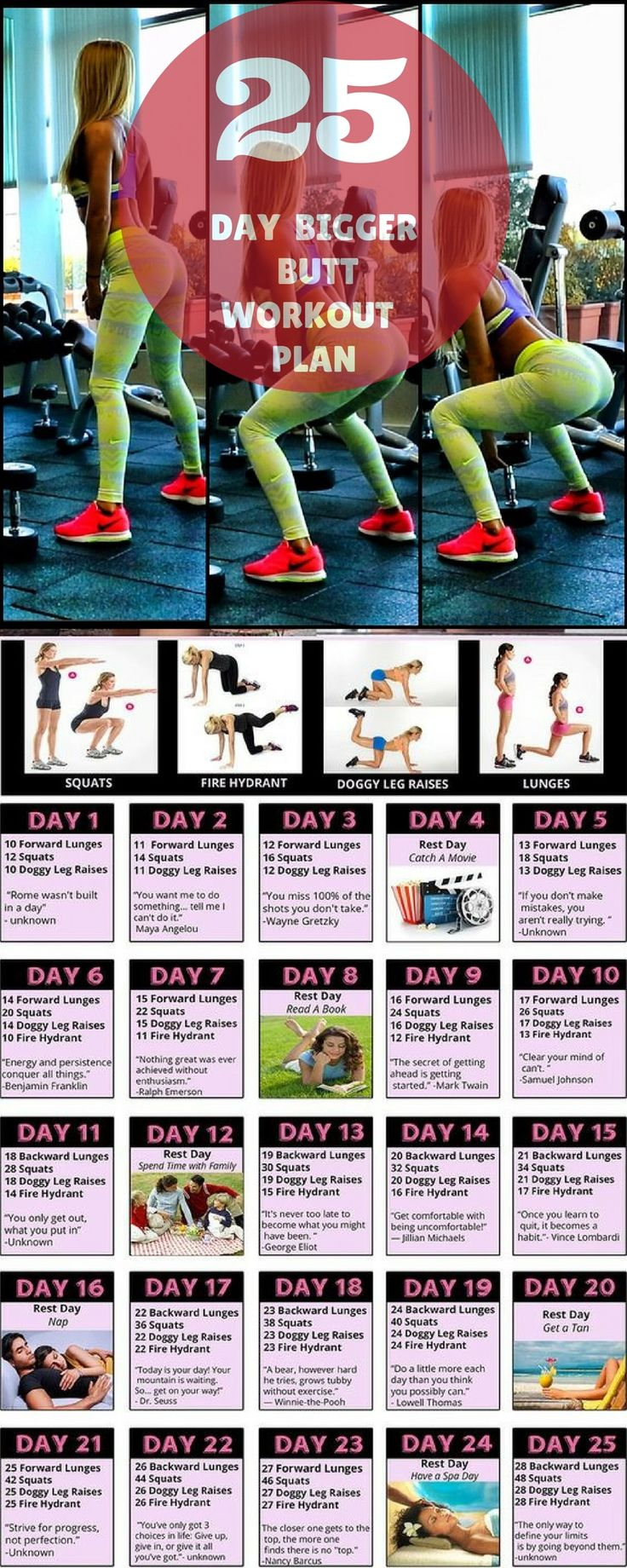 25 DAY BIGGER BUTT WORKOUT PLAN