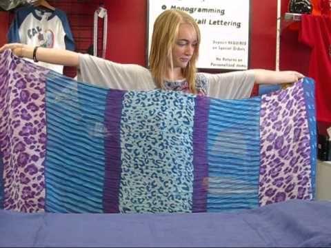 How To: Make a Scarf into a Vest - no sew.