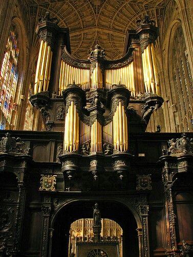 The organ of King's College Chapel, Cambridge.