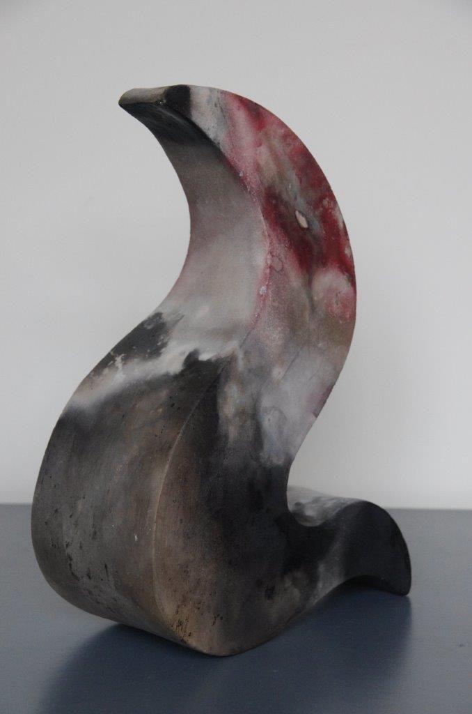 Annemarie van Noort. Vrije ruimte. Vrije vorm in pitfire-oven gestookt