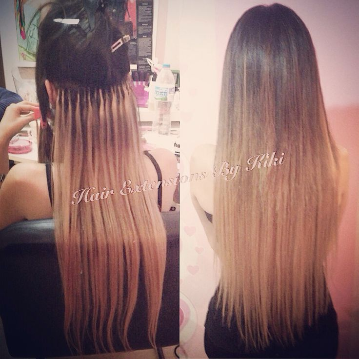 100% human hair extensions  Long hair /Ombre hair color