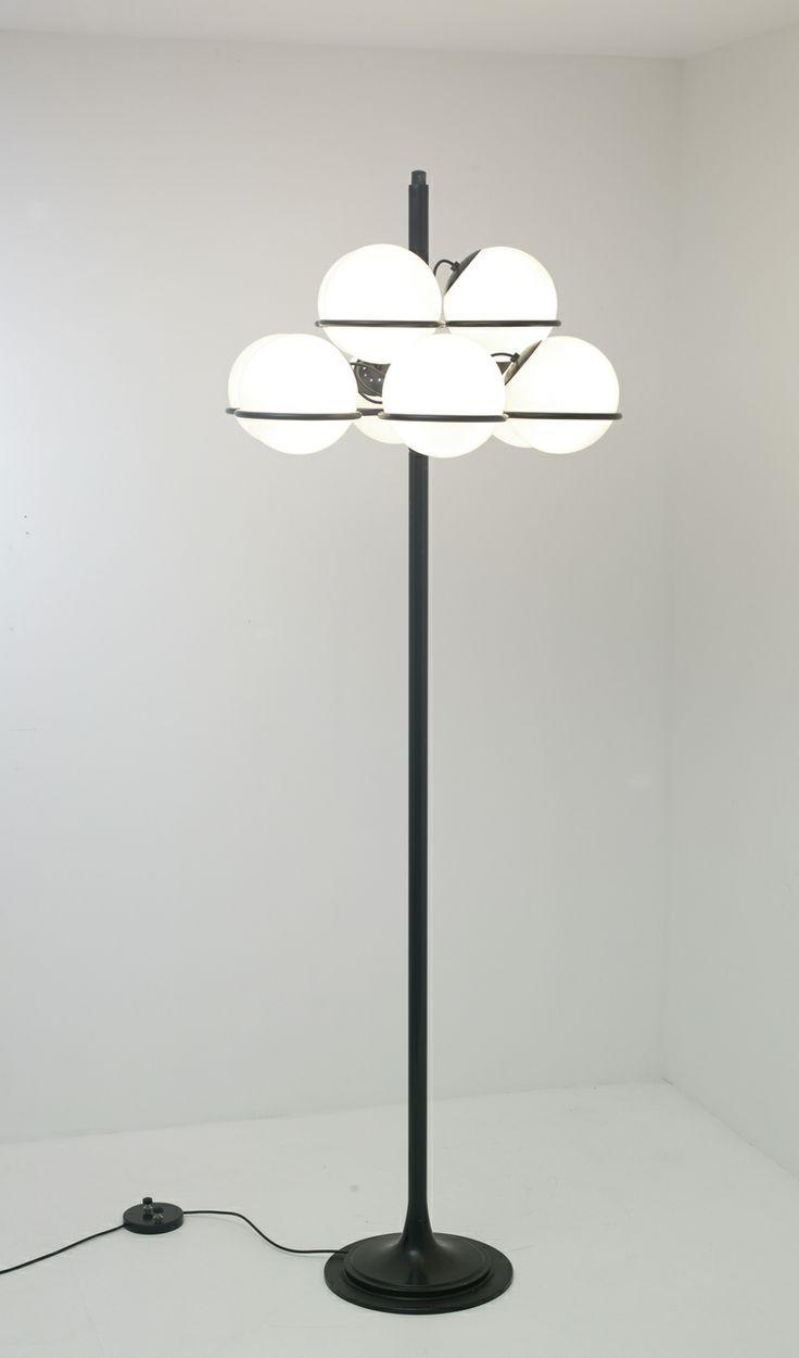 71 best vintage lighting floor lamps desk lights pendants gino sarfatti 1094 enameled metal and glass floor lamp for arteluce 1966 arubaitofo Gallery