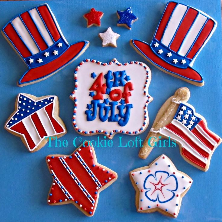 4th of july cookie sandwich
