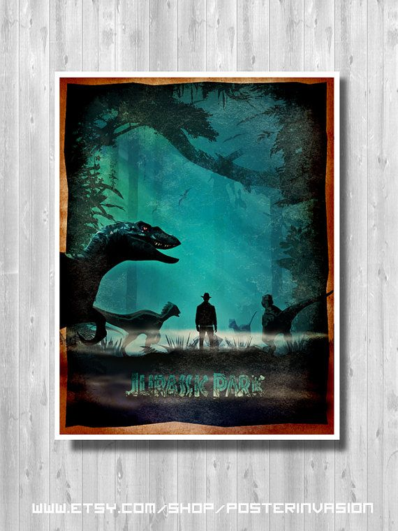 Jurassic Art, Jurassic poster, Jurassic print, Jurassic World, Travel, Jungle, Dinosaur poster, Movie Minimalist poster, Steven Spielberg