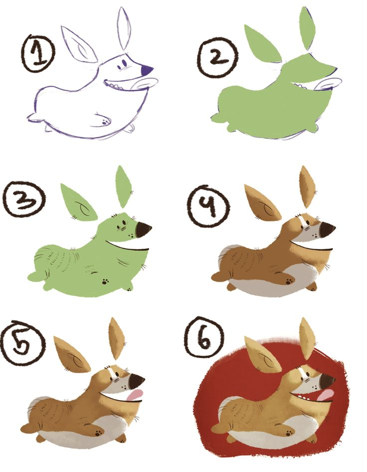 Process 'tutorial' I've promised on how I did the corgi illustration! This was made on Photoshop CS6 (you can use any Photoshop really) and my Wacom Intuos 4 Graphics tablet. 1) I've made a quick...