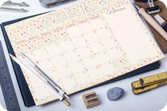 Imprimible: Calendario de Abril 2016