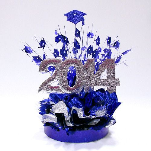 Choose your school colors to order this DIY Graduate Recognition Centerpiece from www.awesomeevent.com