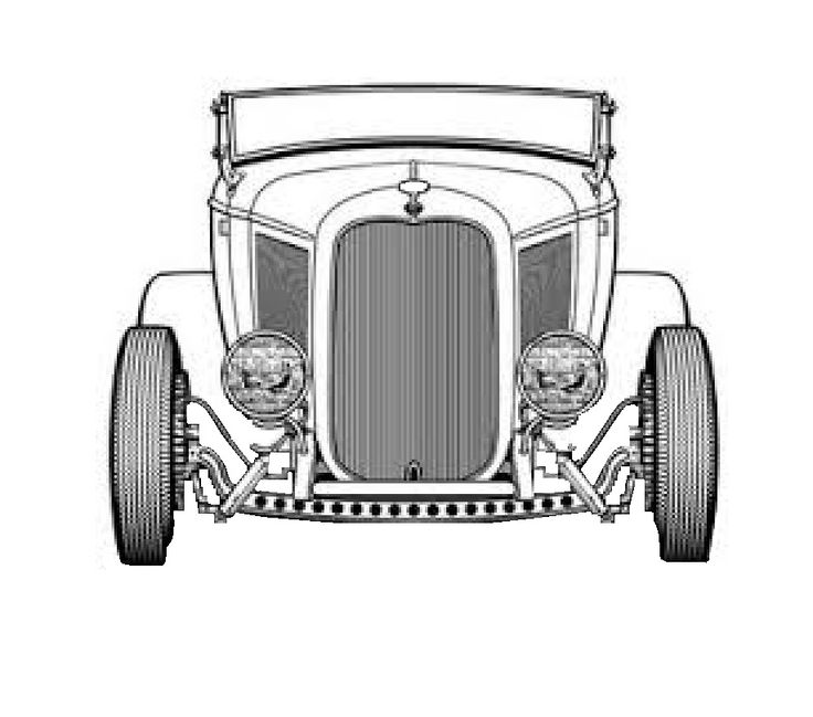 Rat Rod Coloring Pages Ford Modela