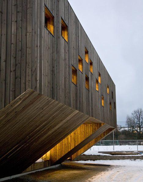 Wood-clad nursery school in Oslo, Norway