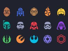 Star Wars Icons by Louie Mantia These are great!!