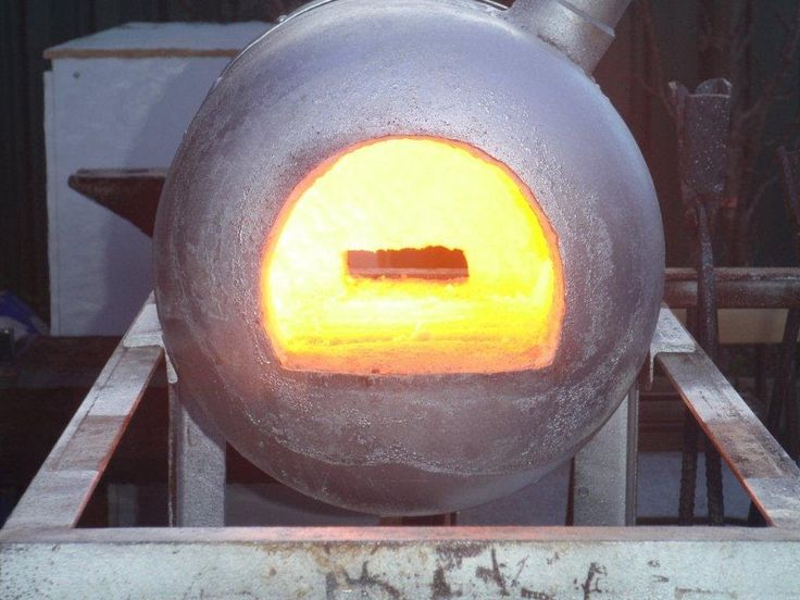 How to build a simple gas forge. Making the shell and installing refract...