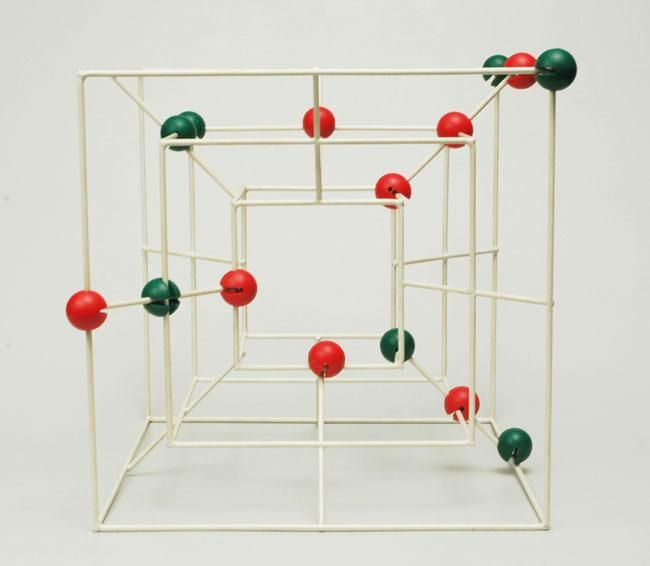 Vintage Naef 3D Muhle Game created by Peer Clahsen - Its like 3D checkers