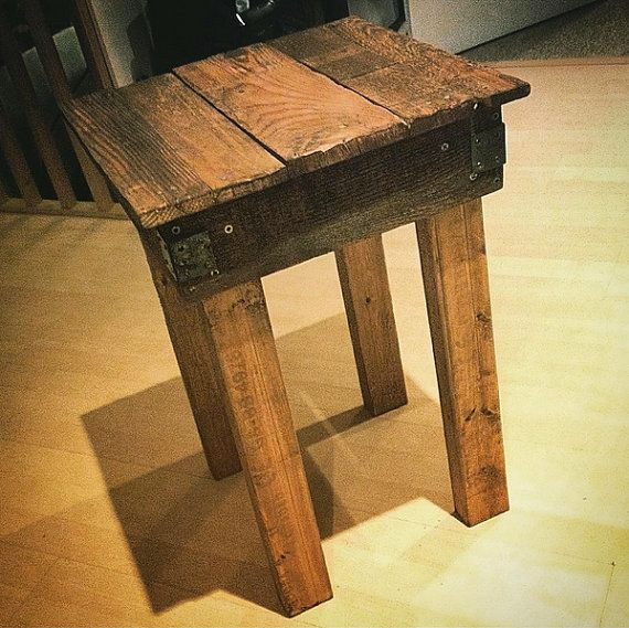 Rustic Handmade Bedside Table by theamateurwoodsman on Etsy