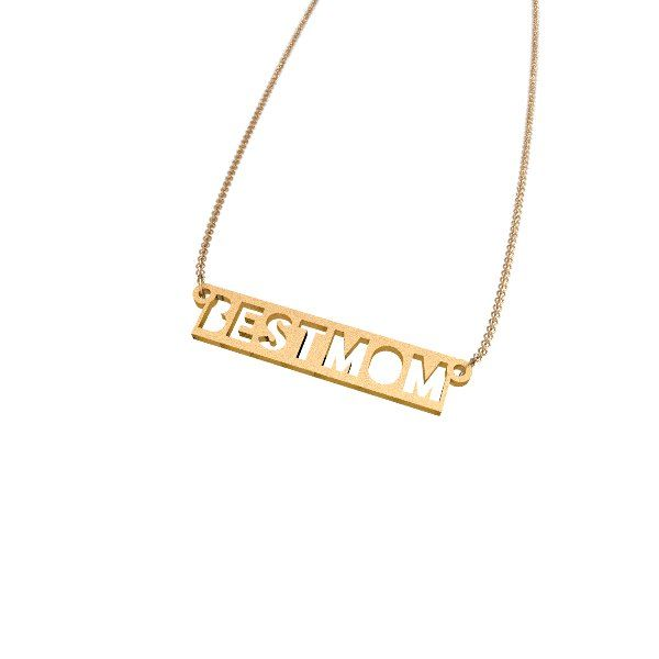 Zazzy Best Mom steel plated Gold Necklace