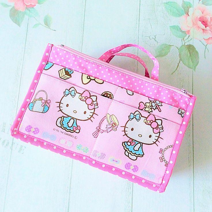 Bag insert small size light pink hello kitty design 01