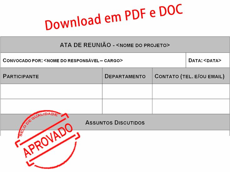 Modelo de Ata para Reunião http://www.gerenciarotempoagora.com.br/wp-content/uploads/2014/09/modelo-de-ata-para-reuniao.jpg