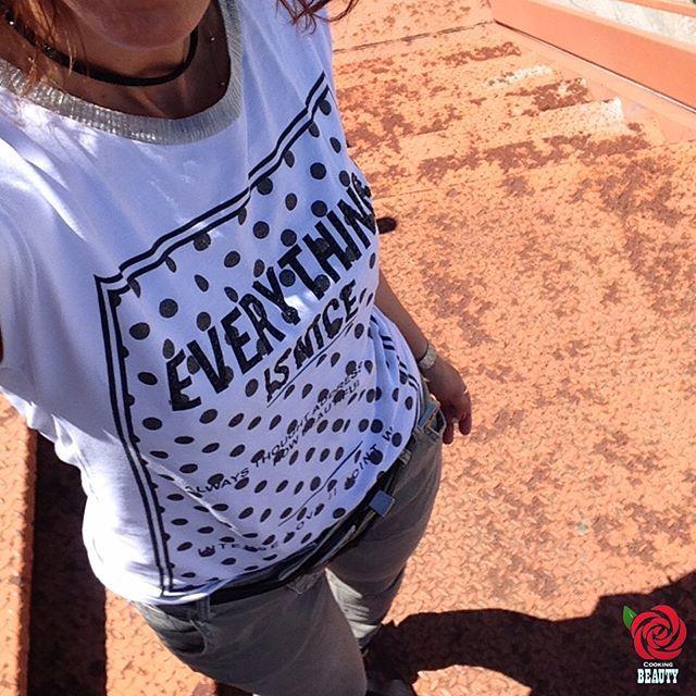 #ootd   #graphictee in white/black/silver   #westernbelt   #swarowskichoker black with black crystals   trousers in light olive green  #blackleatherbooties   #casiowatch