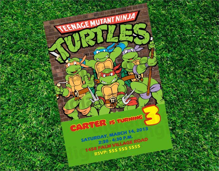 103 best TMNT birthday party images – Printable Ninja Turtle Birthday Invitations