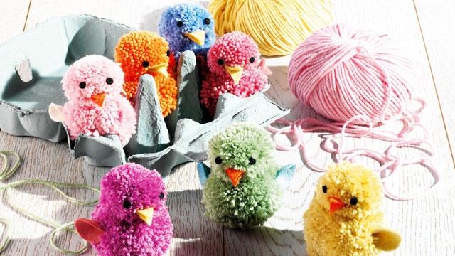 Easter crafts: How to make pompom chicks - Tesco Magazine