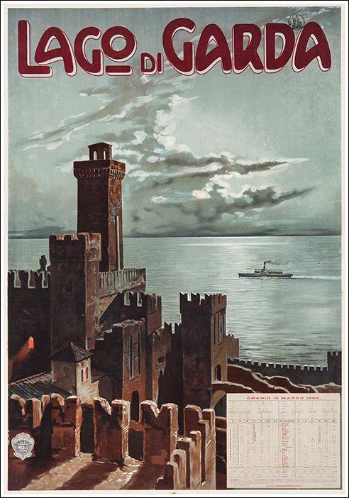 1906 Sirmione, Lake Garda, Italy vintage travel poster