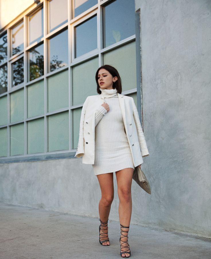 Winter whites   #streetstyle