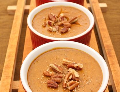 Steamed Pumpkin Custard Recipe — Dishmaps