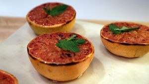 Broiled Grapefruit with Mint Recipe | The Chew - ABC.com