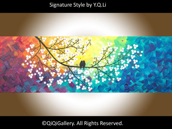 Acrylic landscape painting wall decor home decor by QiQiGallery