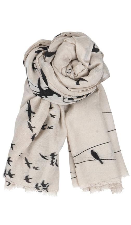 Bird wire cashmere scarf