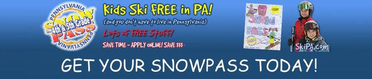 How about skiing or boarding for FREE this winter? Well here's your chance! Your Pennsylvania 4th & 5th Grade Snowpass booklet offers you the privilege of skiing and boarding at Pennsylvania Ski Resorts for FREE this winter when accompanied by a paying adult.  This season we hope that you and your family have an opportunity to enjoy as many of Pennsylvania's ski resorts as possible. Your Snowpass will provide you with over 64 days of FREE skiing and boarding…