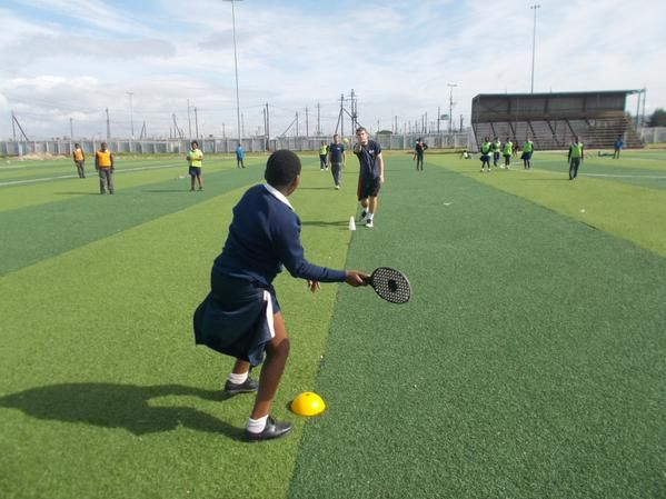 Always great to get out on the field for sports lessons in Cape Town!  #gvi #volunteerabroad #teachabroad