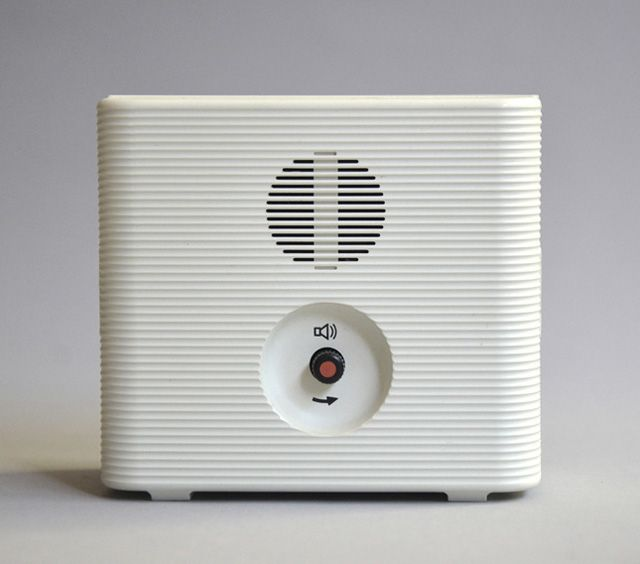 Clean and simple. backside of alarm clock. By Dieter Rams