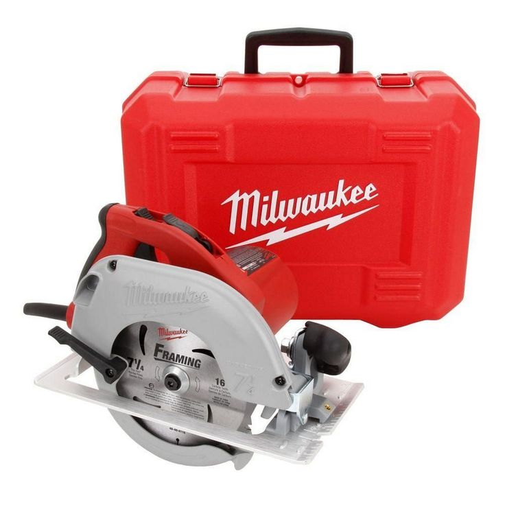 Best 25 milwaukee circular saw ideas on pinterest milwaukee milwaukee 15 amp 7 14 in tilt lok corded circular saw power tool w case greentooth Images