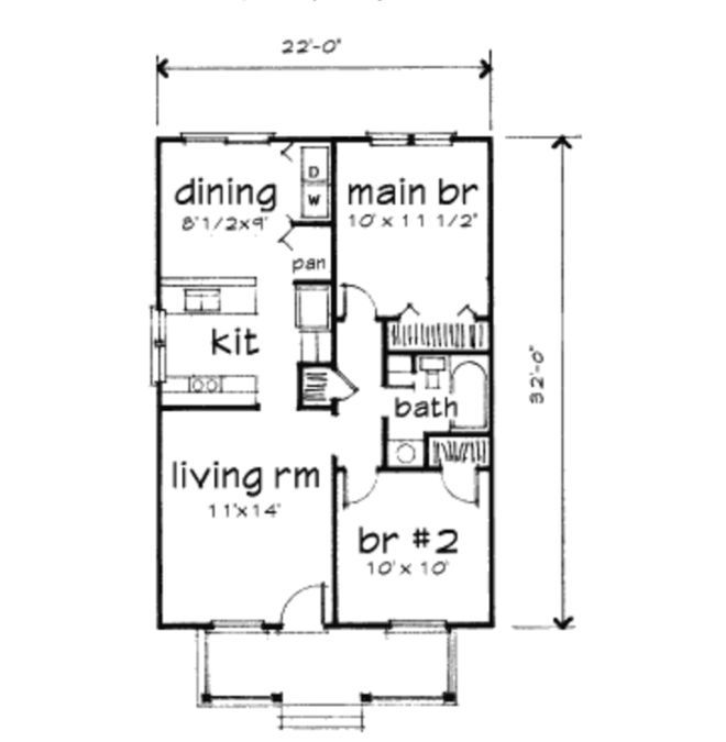 877 best images about tiny houses on pinterest for Small cottage floor plans under 1000 sq ft