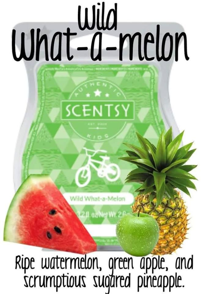 Wild What-a-Melon Scentsy Bar: Your little wild one will love this fun and fruity fragrance, bursting with ripe watermelon, green apple and scrumptious sugared pineapple. https://deniseayers.scentsy.us