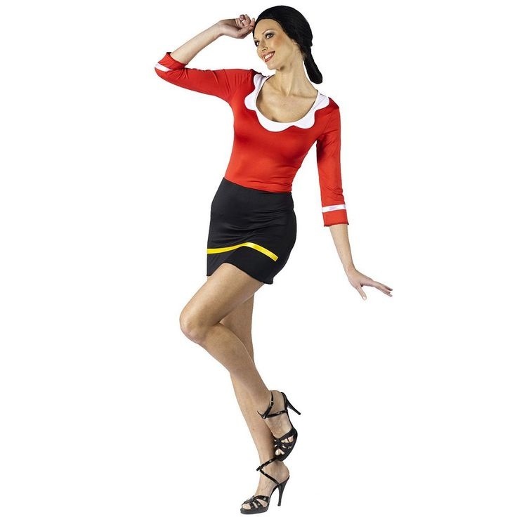 Adult Popeye Olive Oyl Costume, Women's, Size: S/M, Red