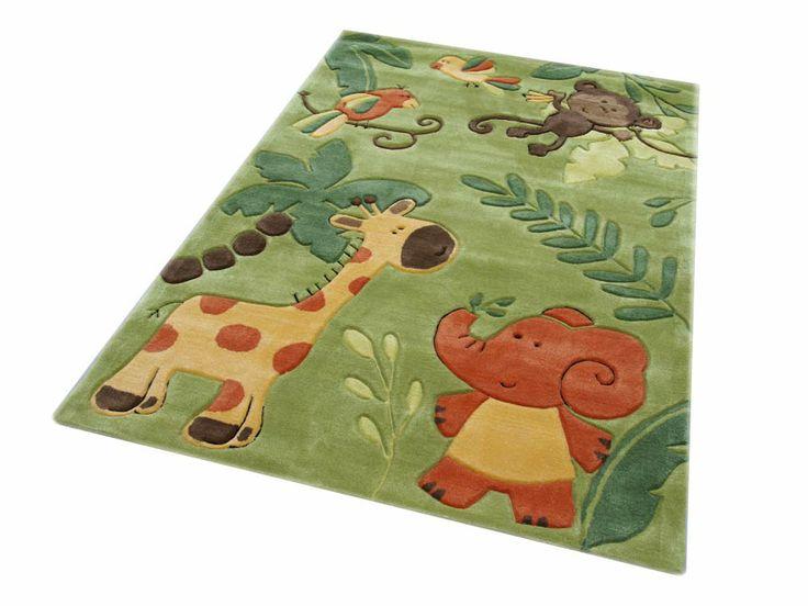 Bernadette Handtuft Kinderteppich / Spielteppich grün