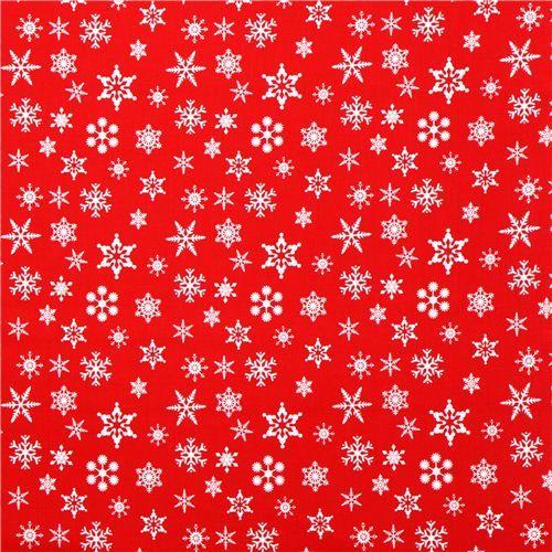red Riley Blake snowflake Xmas fabric Holiday Banners