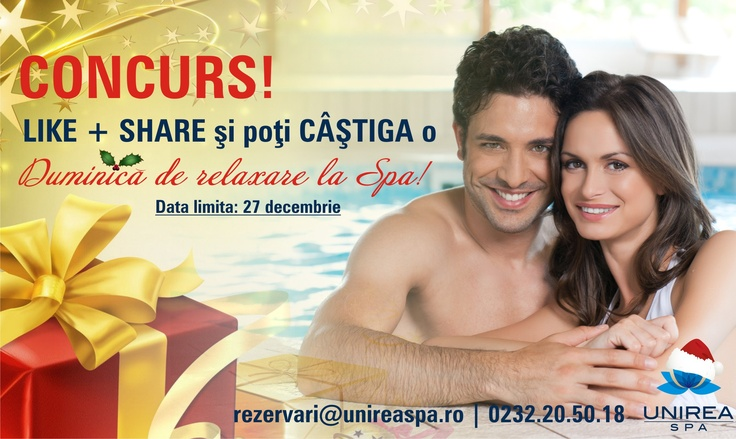 Win a free Sunday at the Spa, for you and you loved one.