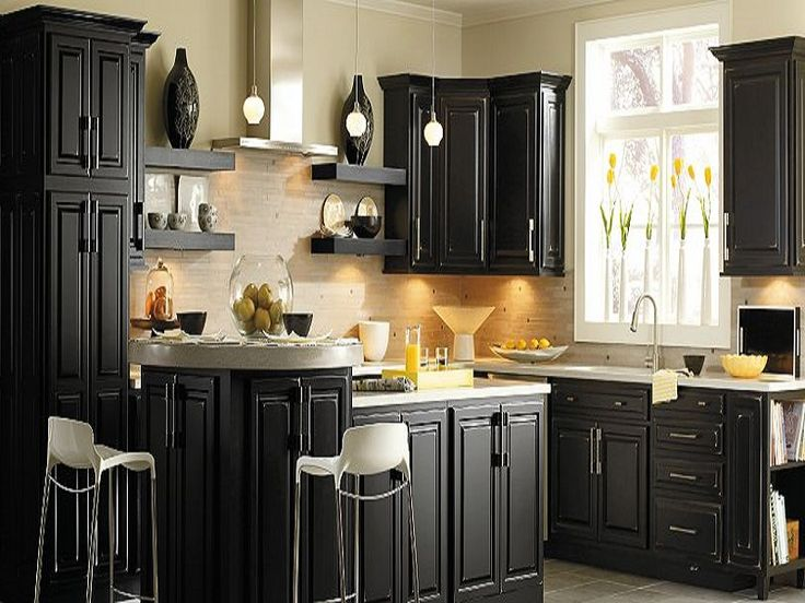 Kitchen Remodel Ideas With Black Cabinets best 25+ thomasville kitchen cabinets ideas only on pinterest