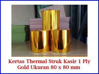 Kami menjual kertas struk Thermal 1 Ply Ukuran 80 x 80 mm untuk mesin printer kasir harga murah kualitas Gold