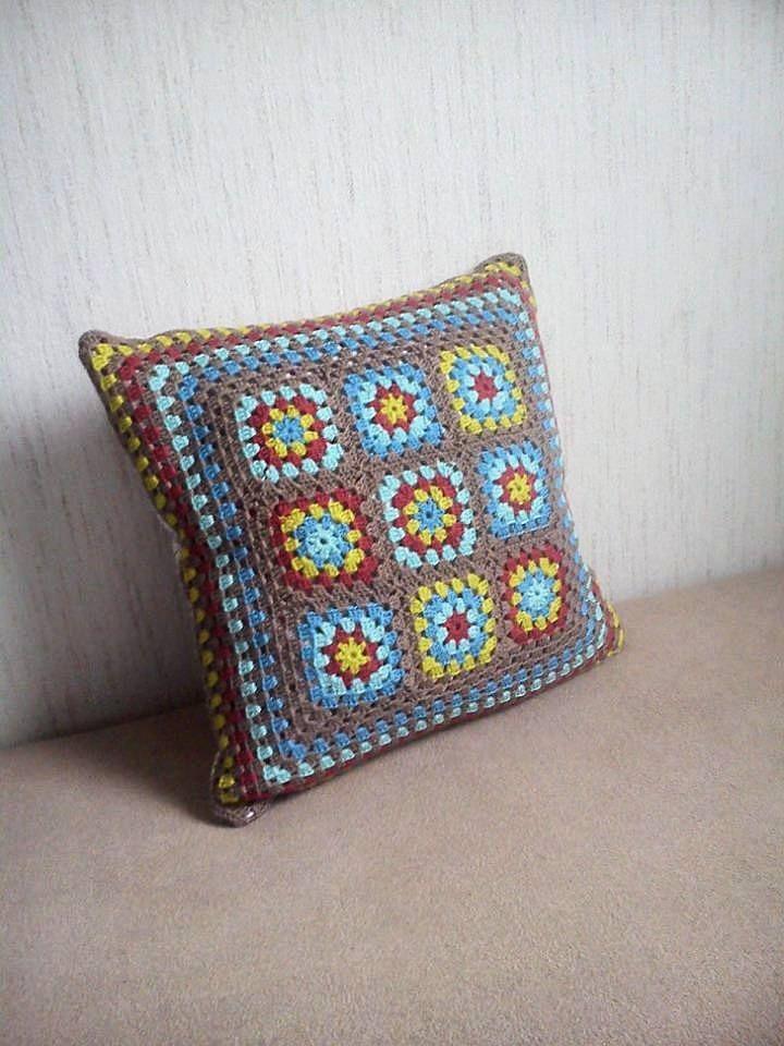 My first crochet pillow :)