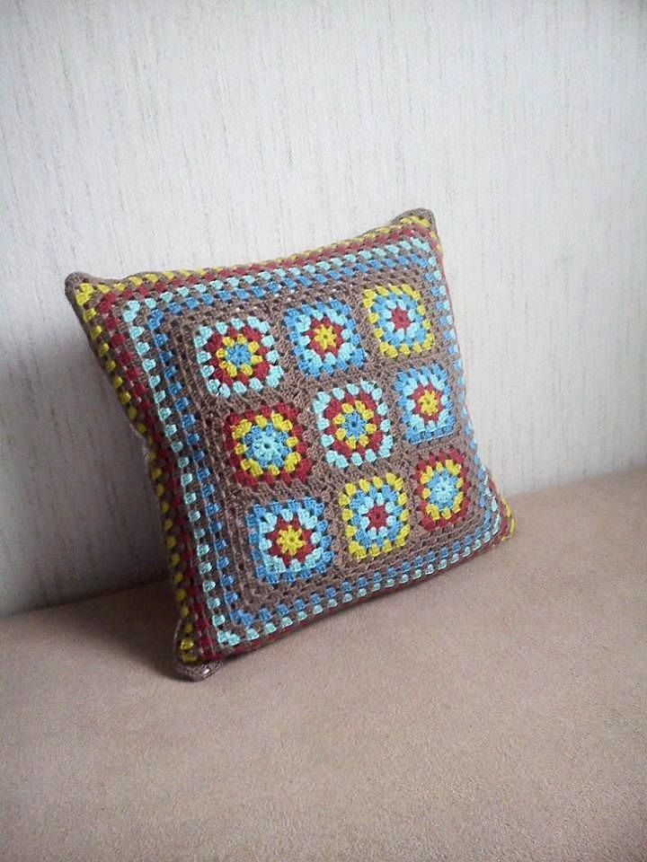 My first crochet pillow :)