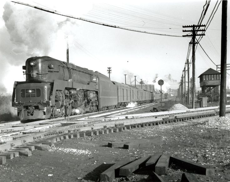A prr class t1 is westbound on the bradford line in