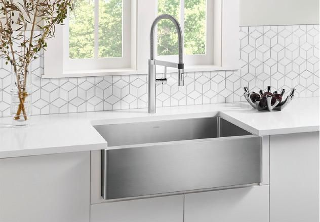 Blanco Quatrus R15 32 Single Bowl Stainless Steel Farmhouse Apron Sink Introducing The Kitchen Sink Design Farmhouse Apron Kitchen Sinks Farmhouse Apron Sink