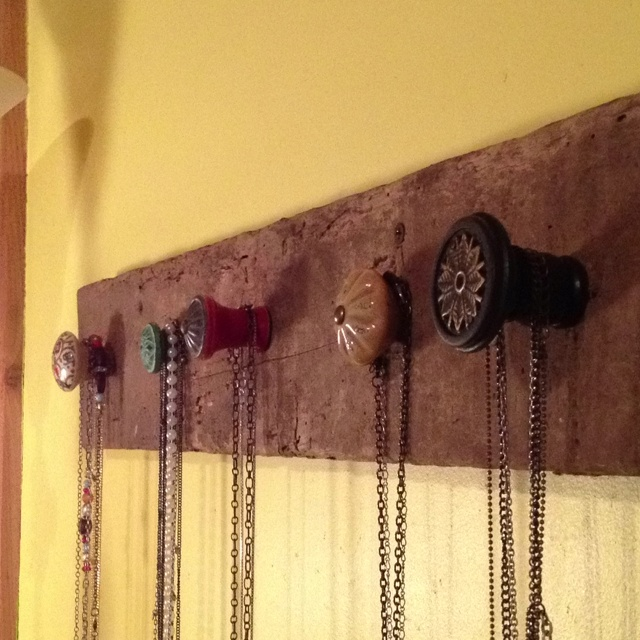 Took A Piece Of Old Barn Wood, Bought Cool Knobs From