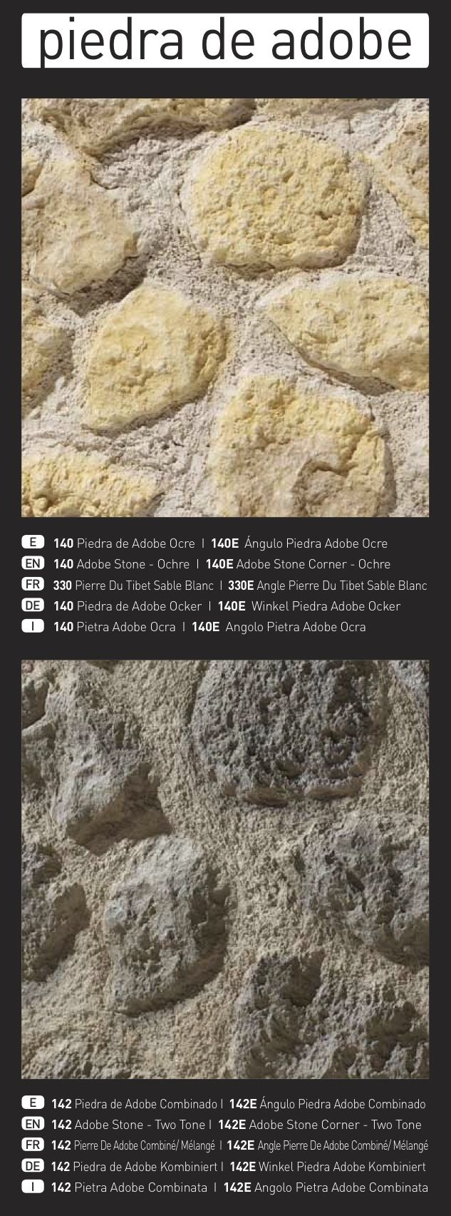 'PIEDRA DE ADOBE' Faux Stone Wall Panels